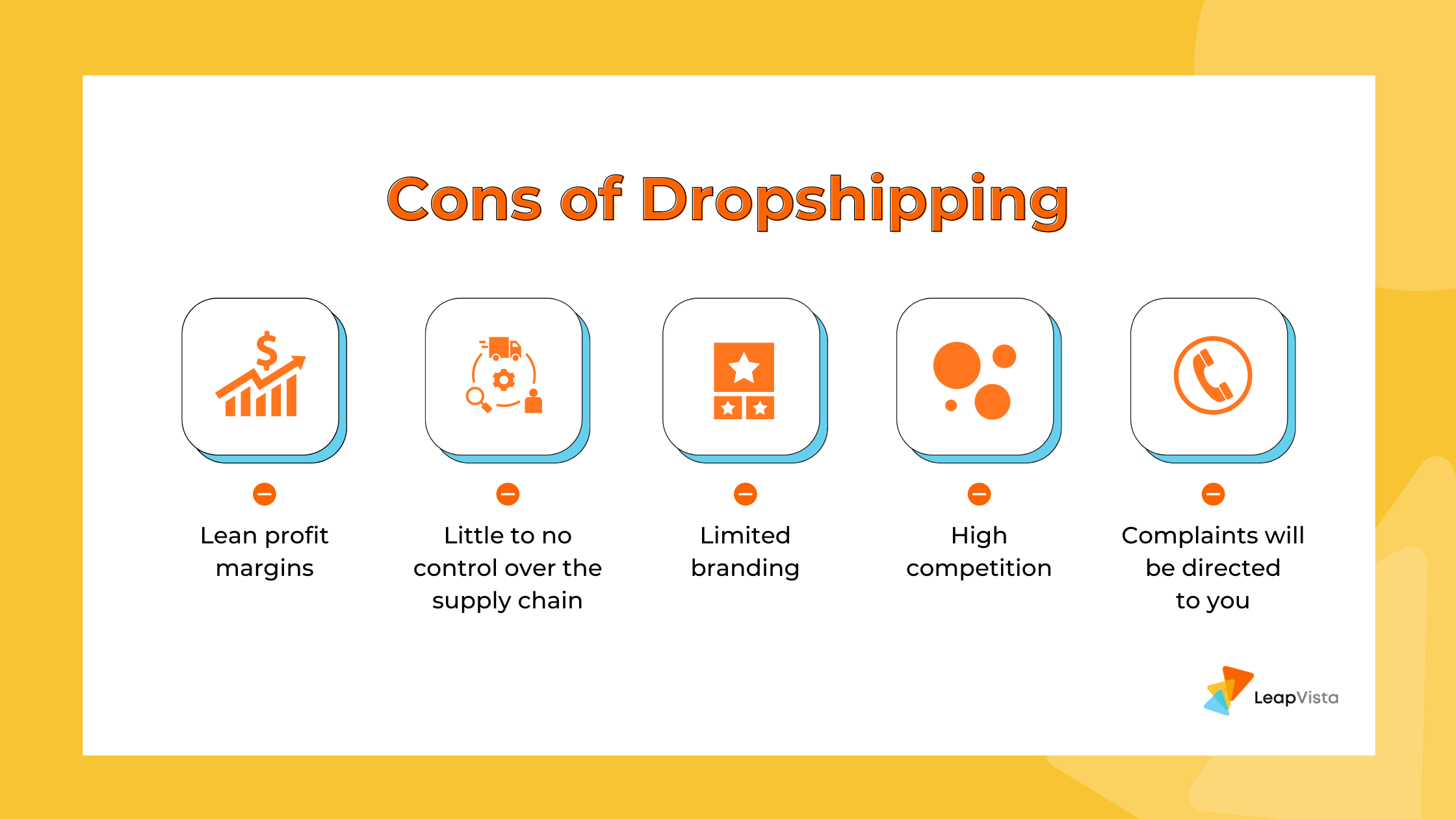Cons of the dropshipping business model