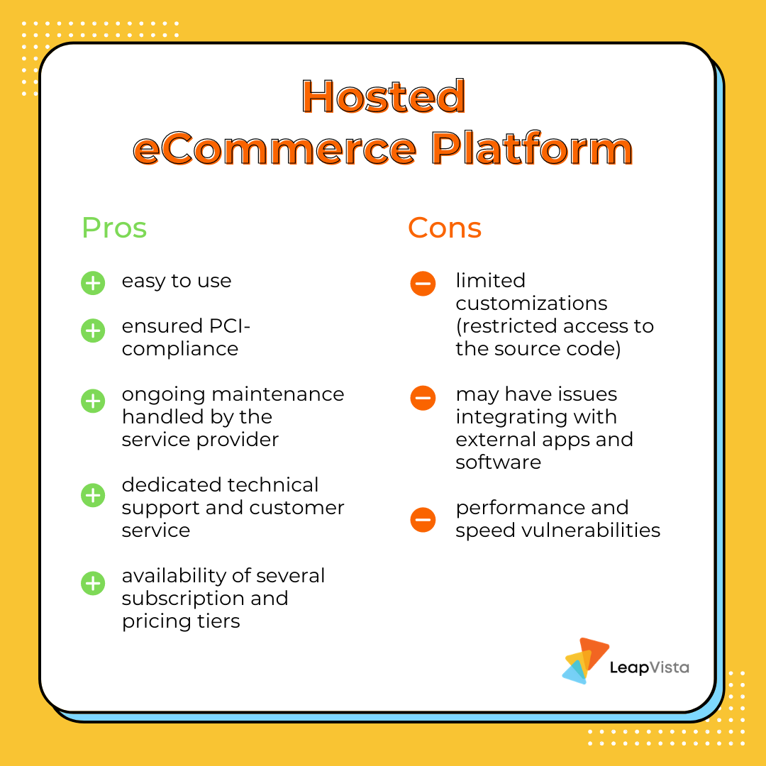 Pros and cons of using a hosted eCommerce platform