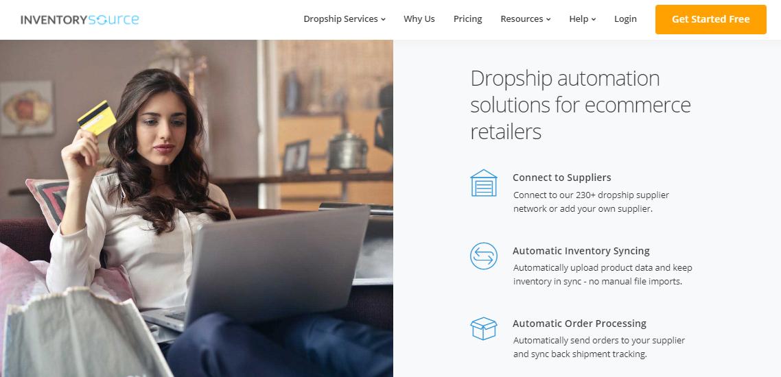 Screenshot of Inventory Source's homepage