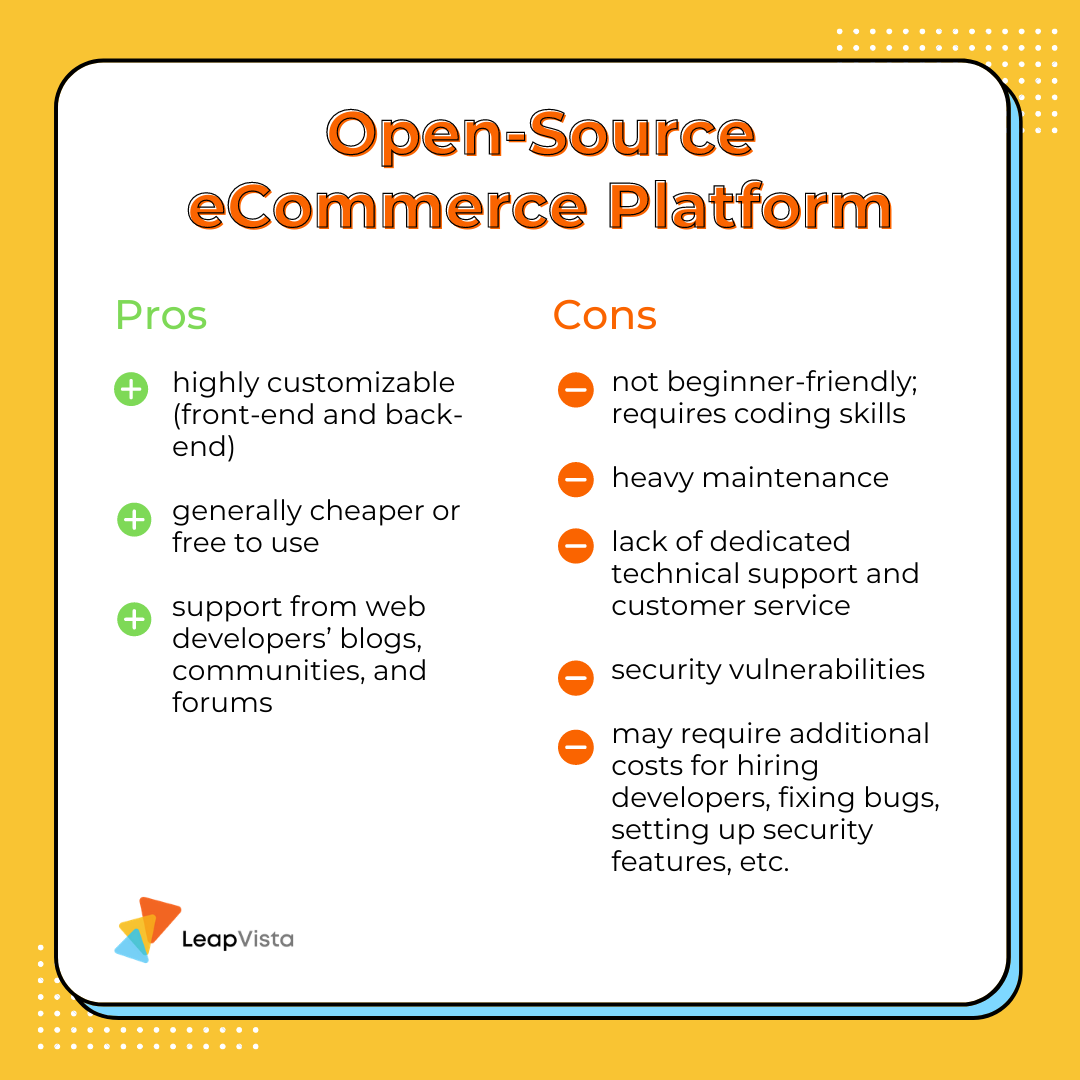 """Pros and cons of using an open-source eCommerce platform"""""""